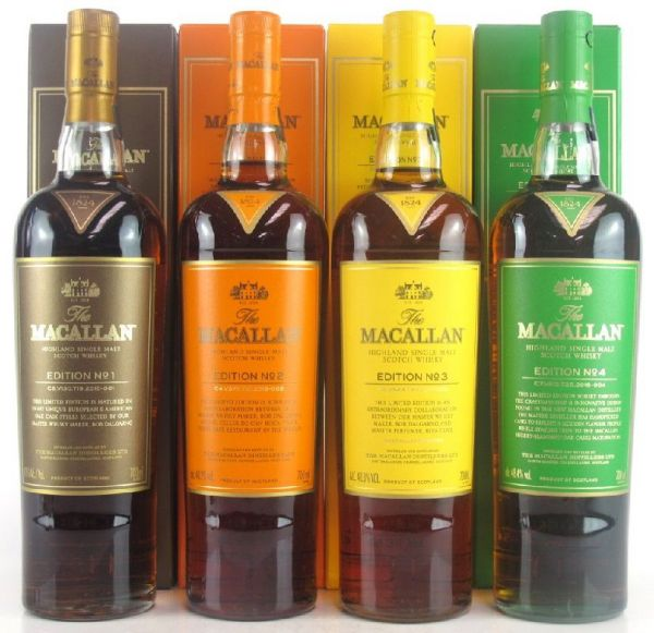 Macallan Edition No.1-4 Collection
