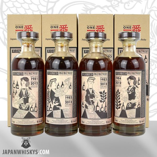 Karuizawa 1981-1982-1983-1984 Cocktail Series 4er Set