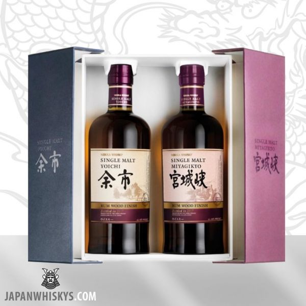 Nikka Yoichi & Miyagikyo Rum Wood Finish
