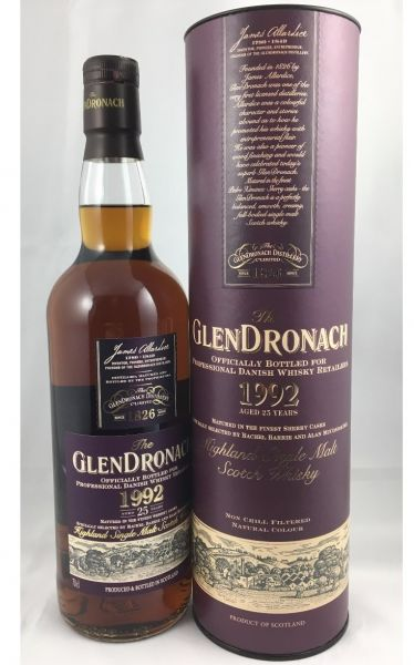 Glendronach 1992 - 25Y Sherry Cask Only For Denmark