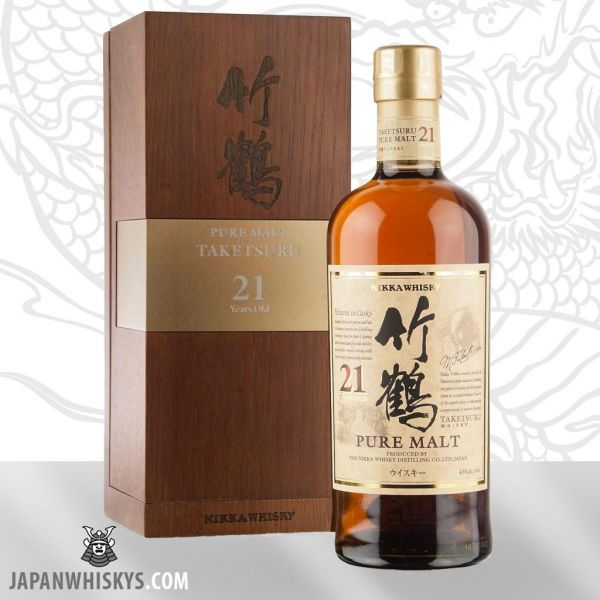 Nikka Taketsuru Pure Malt 21 in Wooden Gift Box