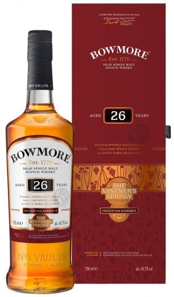 Bowmore 26 Jahre French Oak Barrique Cask Vintner's Trilogy