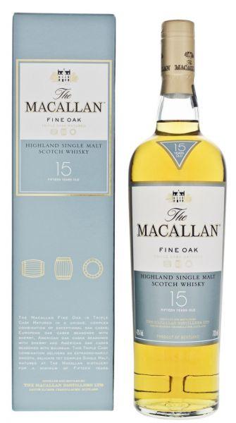 Macallan 15 Fine Oak Single Malt Scotch Whisky